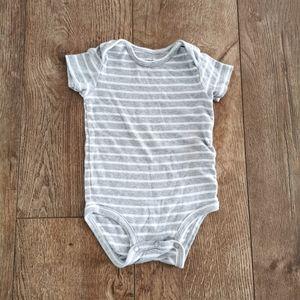 3/$12 Carter's striped onesie 12 M